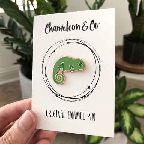 chameleon enamel pin, chameleon badge, green pin badge, green enamel pin, chameleon accessory, chameleon lapel pin, chameleon brooch