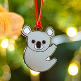 koala christmas tree decoration, koala xmas tree decoration, koala bauble, koala hanging decoration, koala secret santa gift, koala christmas gift, aussie bauble, aussie animal, australiana christmas decoration, cute animal tree decoration