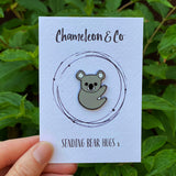 koala enamel pin badge, koala pin badge, koala accessory, koala badge, koala lapel pin, koala brooch