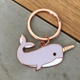 you are amazing narwhal keyring, keyring gift for firend, lockdown gift, isolation gift, quarantine gift, social distance gift, positive message gift for friend, letterbox gift