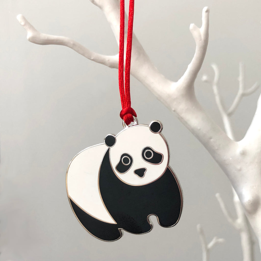 panda christmas decoration, panda christmas tree decoration, panda xmas decoration, unusual christmas tree bauble, panda hanging decoration, panda bauble, kids bauble, bauble for child, panda lover gift