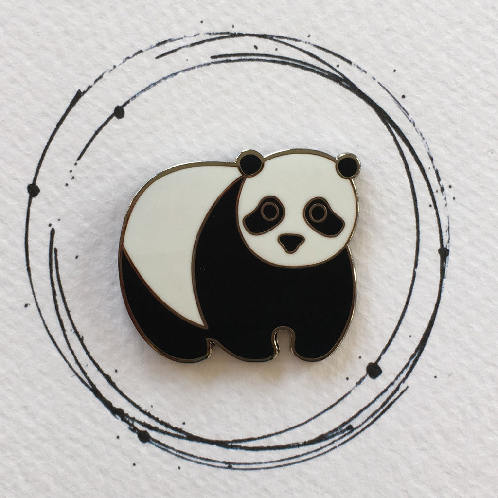 panda pin, panda pin badge, panda badge, panda enamel pin, panda, back to school, book bag pin badge, stocking filler for kids, panda gift