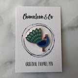 peacock enamel pin, peacock pin badge, peacock accessory, peacock jewellery, peacock lapel pin, bird enamel pin, peacock, enamel pin