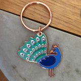 you are fabulous peacock keyring, I'm proud of you peacock keyring, keyring gift for firend, lockdown gift, isolation gift, quarantine gift, social distance gift, positive message gift for friend, letterbox gift