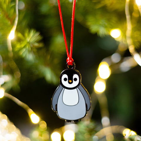 penguin christmas bauble, penguin tree decoration, christmas tree decoration for child, babys first christmas decoration, babys first christmas tree decoration, animal christmas tree decoration, animal bauble for christmas tree, penguin