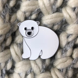sending bear hugs polar bear pin gift, letter box pin gift, isolation gift, quarantine gift, polar bear pin, virtual hug gift