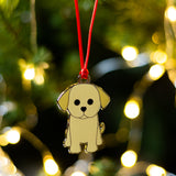 puppy christmas tree decoration, dog christmas tree decoration, labrador christmas tree decoration, puppys first christmas decoration, dogs first christmas decoration, christmas tree decoration for dog, stocking filler for dog, stocking filler for puppy, secret santa gift for dog