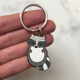 raccoon keyring, raccoon key ring, raccoon keychain, raccoon key fob, raccoon accessory, cute raccoon, raccoon gift, gift for raccoon lover, hard enamel keyring, enamel keyring, cute animal keyring
