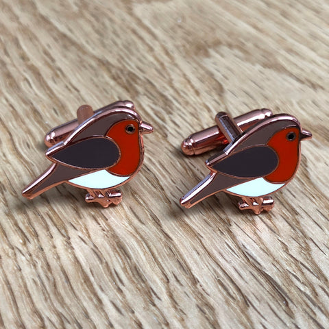robin cufflinks, robin cuff links, christmas cufflinks, novelty christmas cufflinks, christmas gift for dad, christmas party cufflinks, bird cufflinks, bird cuff links