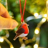 robin tree decoration, remembrance christmas tree decoration, commemorative christmas tree decoration, tree decoration to remember lost loved one, robin bauble, robin bird tree decoration