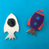 Rocket Enamel Pin Badge