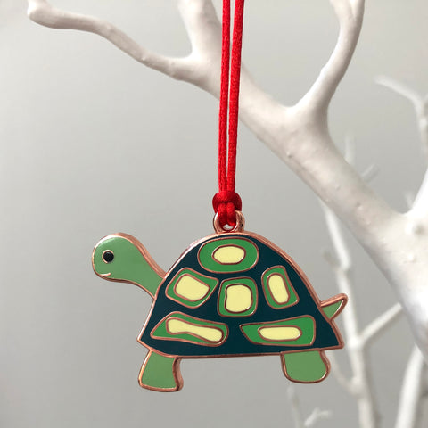 tortoise christmas decoration, tortoise christmas bauble, tortoise xmas tree decoration, turtle christmas decoration, turtle bauble, tortoise bauble