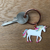 unicorn keyring, unicorn key ring, unicorn keychain, unicorn key fob, unicorn gift, unicorn accessory, gift for unicorn lover, gift for girl