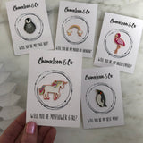 """Will You Be My Bridesmaid?"" pin gift"