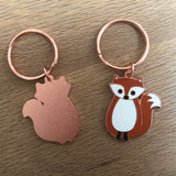 fox keyring, fox keychain, fox keyring, fox key chain, woodland fox, fox accessory, fox gift, back to school gift, housewarming gift, gift for fox lover, gift for fox collector, fox present, fox gift for friend