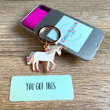 you got this unicorn gift, cheer on gift, motivation gift, you got this gift, you got this keyring
