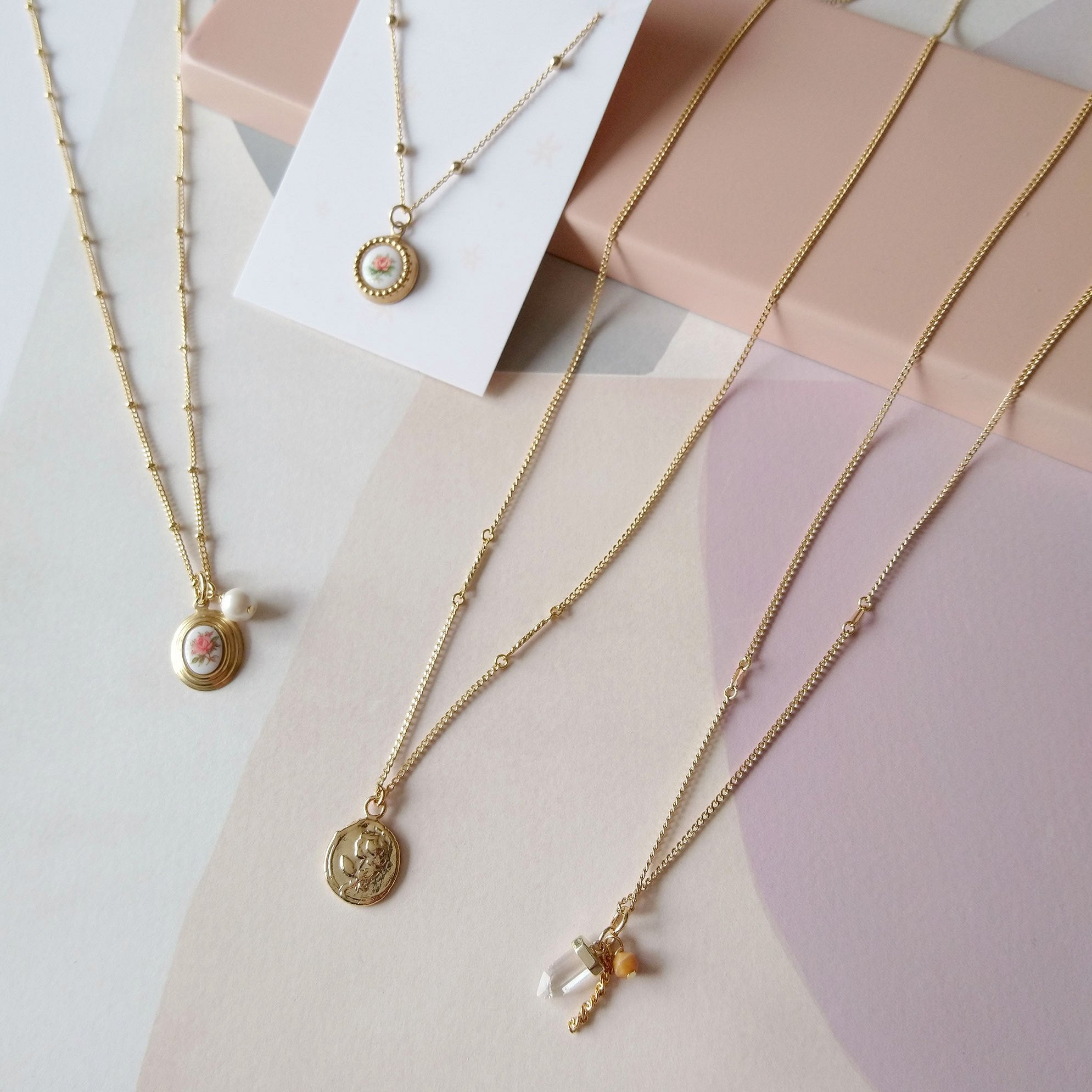 Gold necklaces to layer