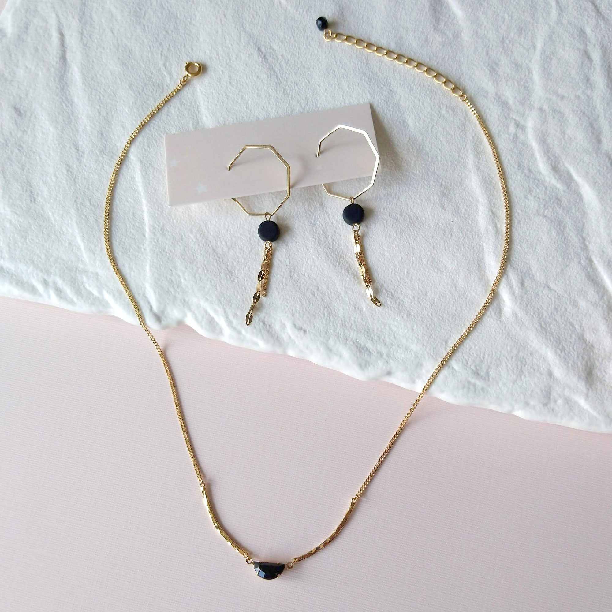 earrings and necklace duo
