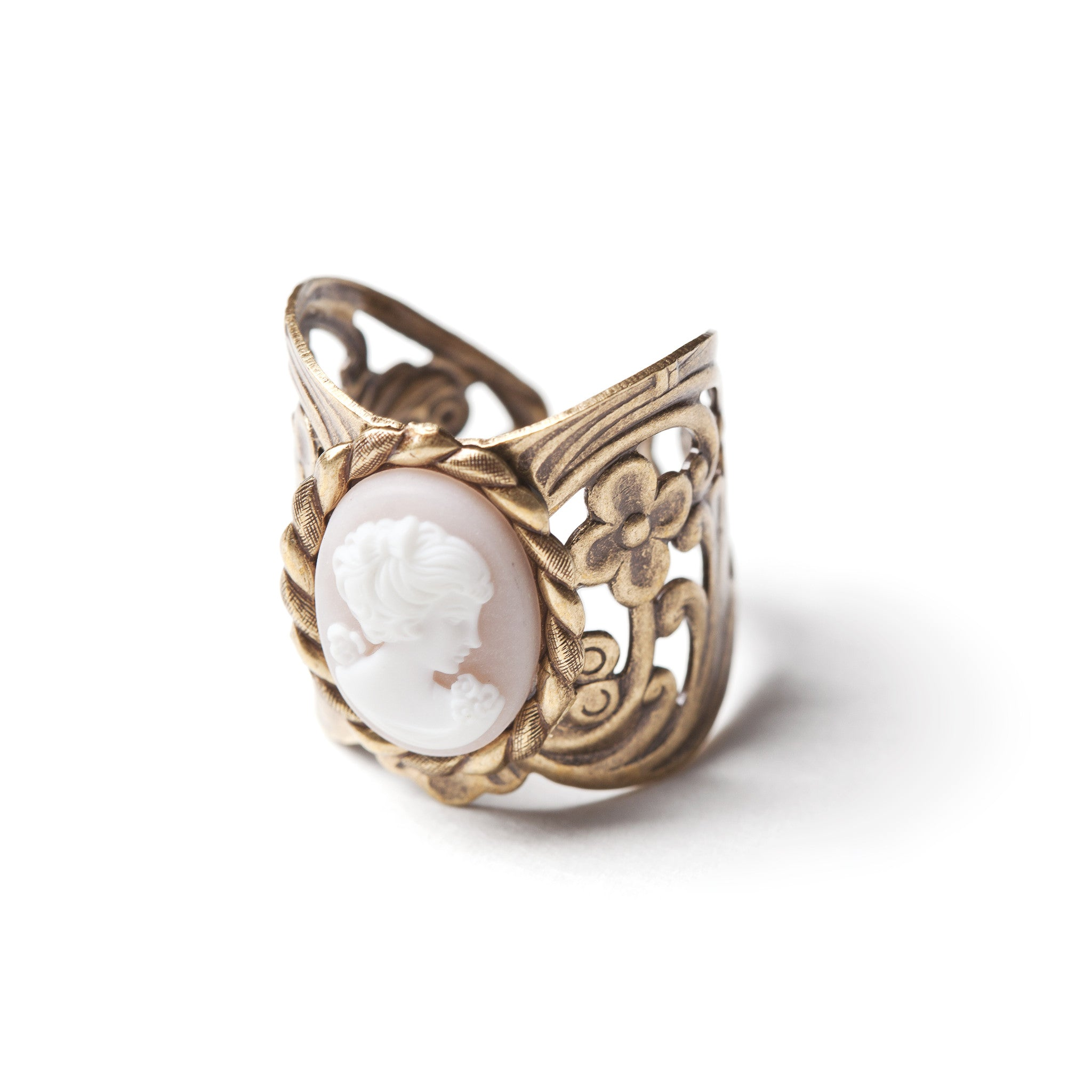 Angelskin cameo ring