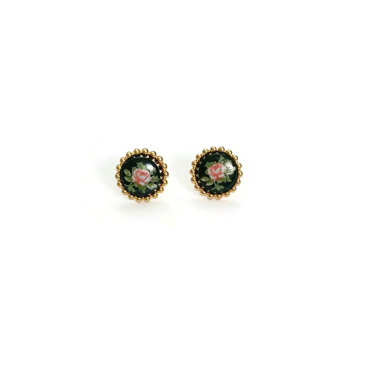 Rose Ear Posts (SD1101) - Sandrine Devost Jewelry