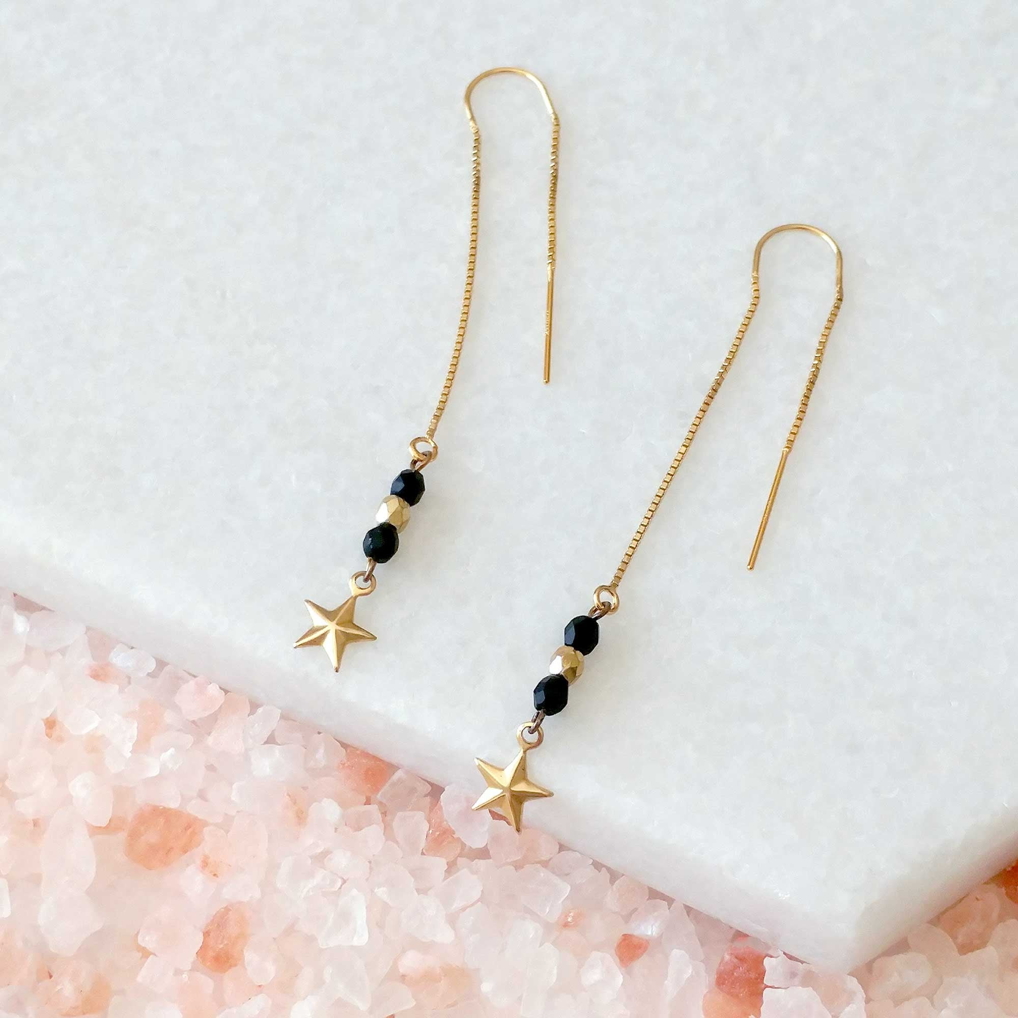 Fine Star Threader Earrings (SD1240)