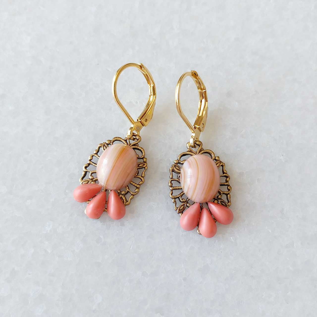 Coral Clusters Earrings (SD1261)