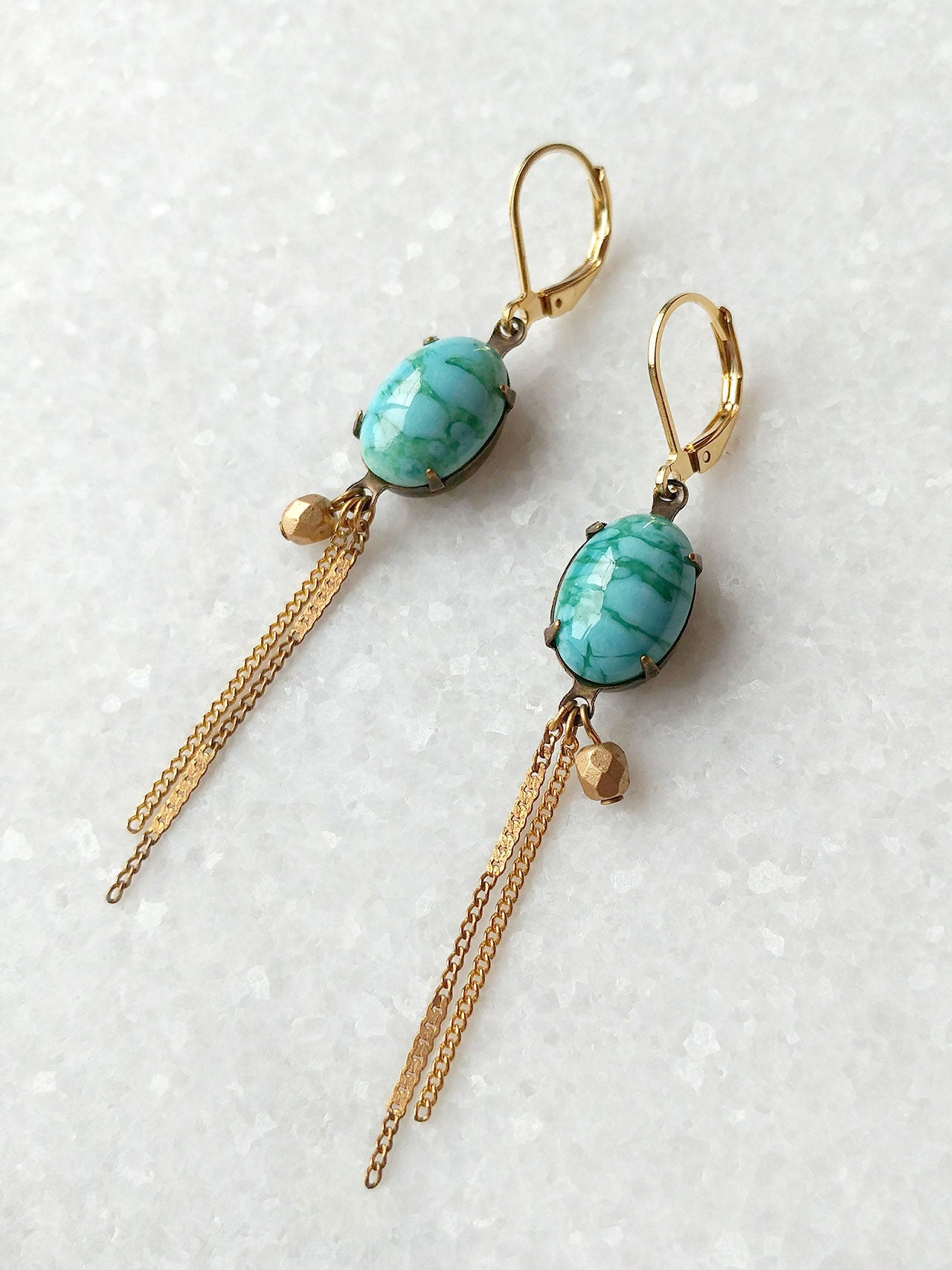 Fawcet Earrings in turquoise (SD1279)