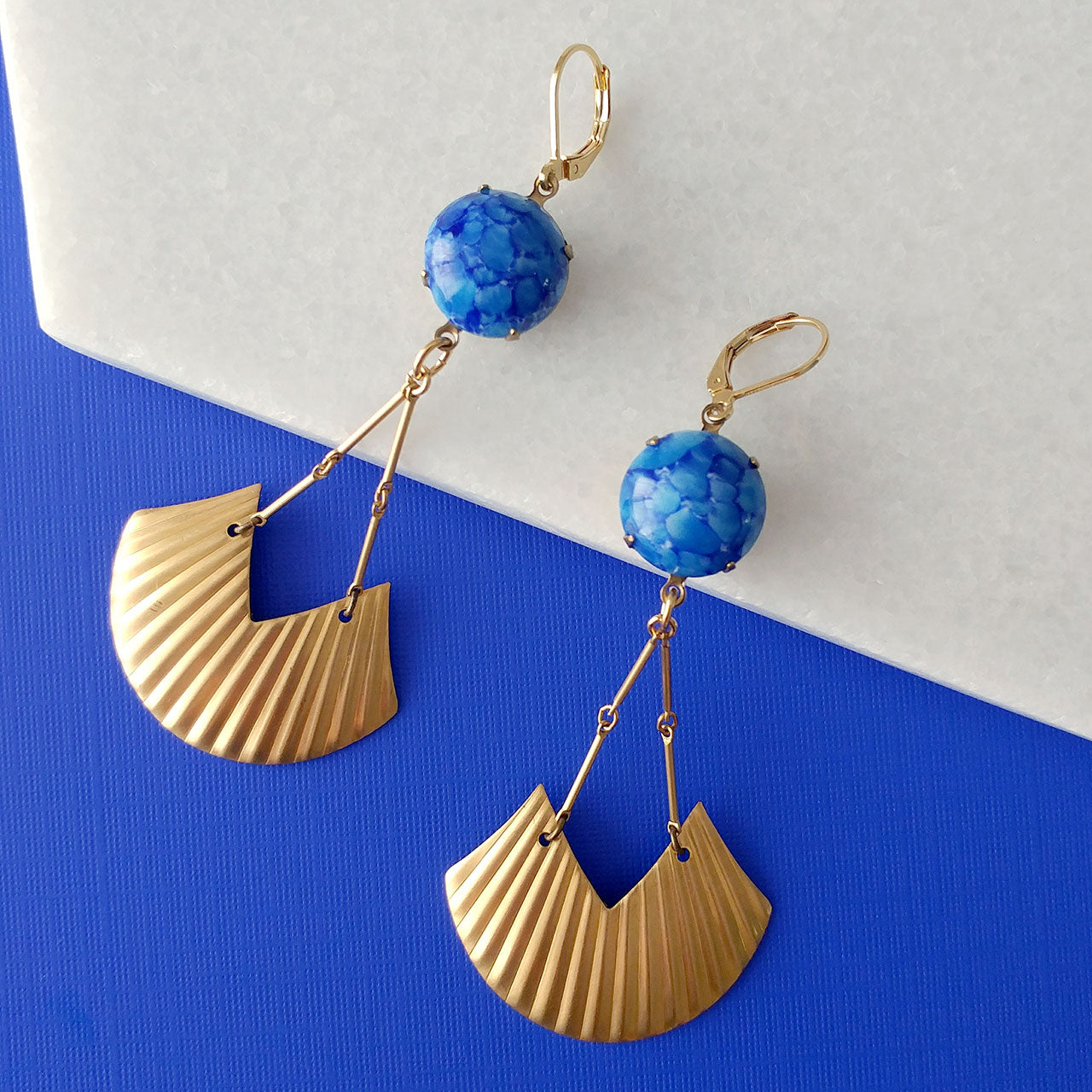 Billy in blue Earrings (SD1310)