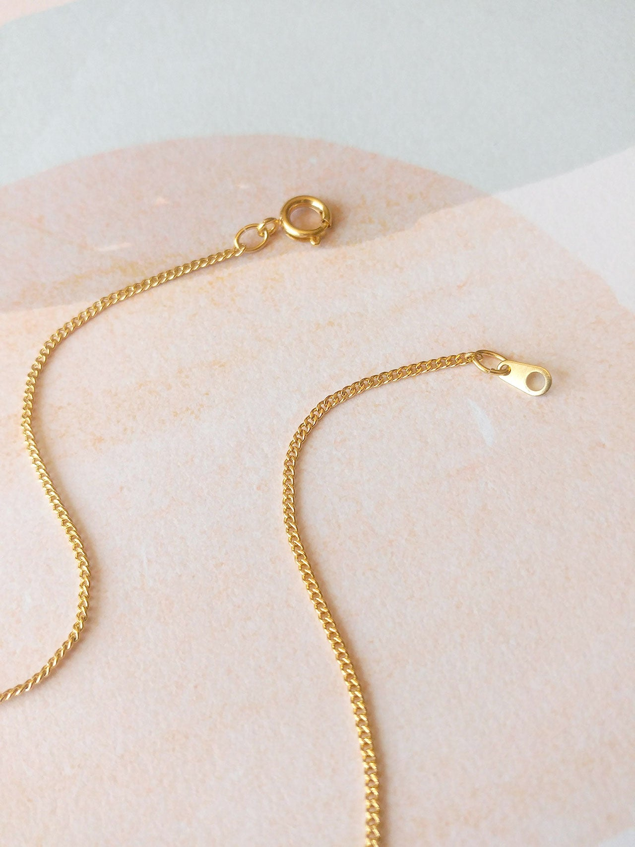 gold plated brass chain
