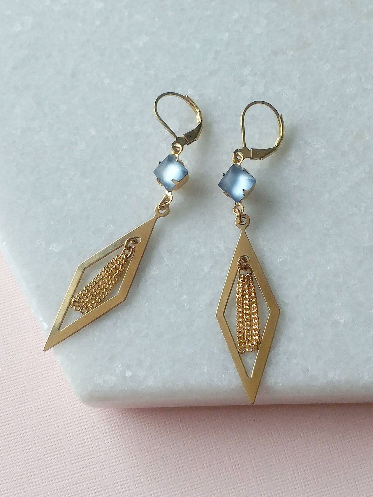 geometric earrings pendants