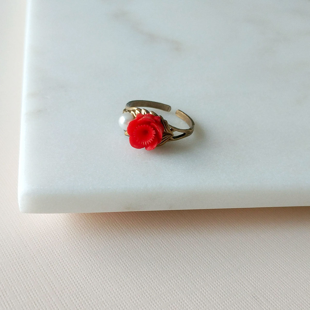 Sakura ring in cherry red (SD1367)