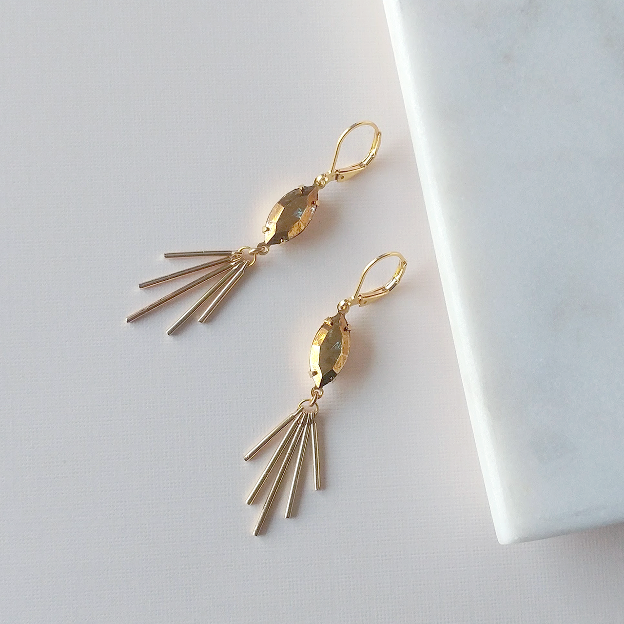crystal aurum earrings