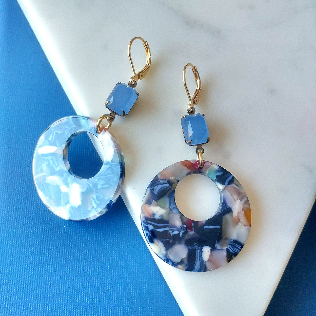 blue earrings summer collection