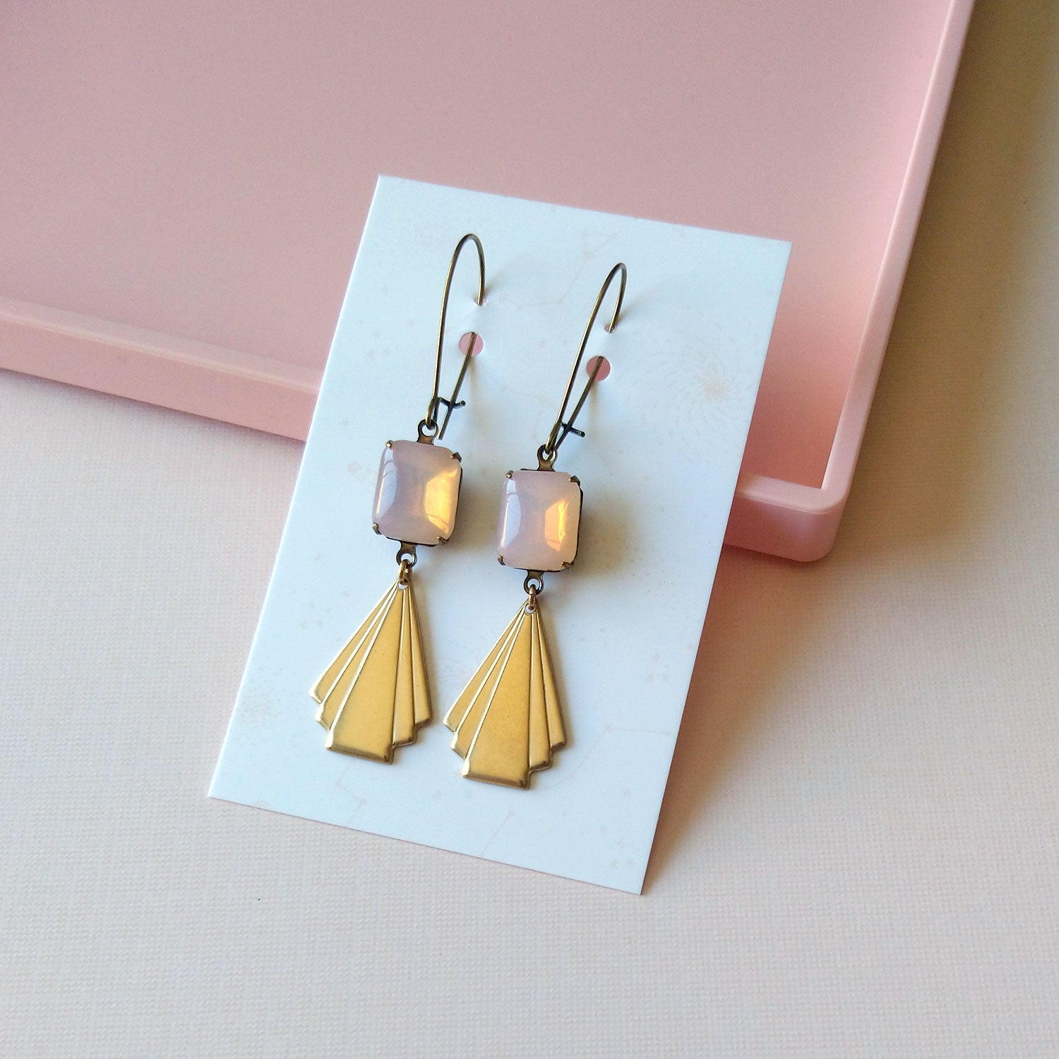 art deco inspired earrings