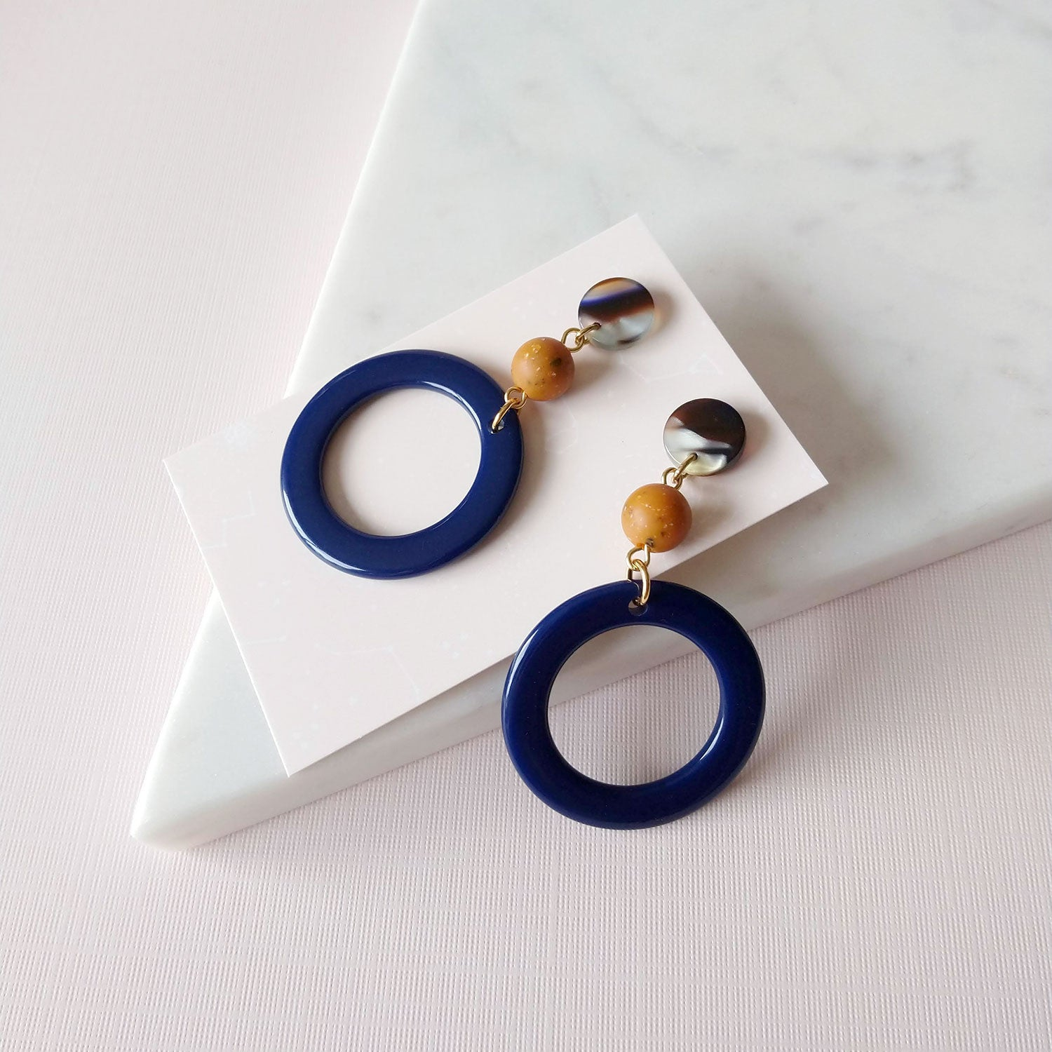 acetate earrings vintage hoops