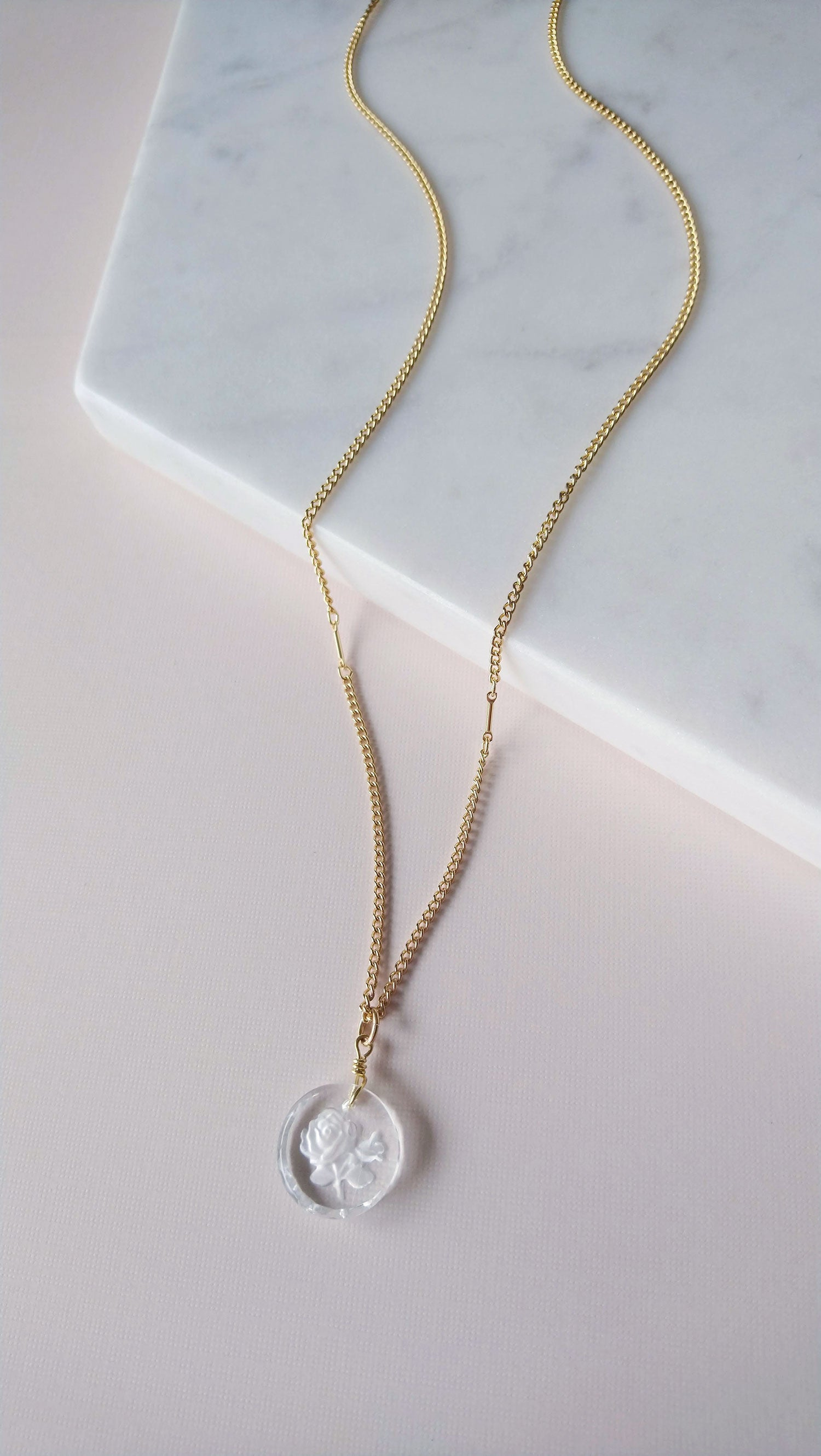Rose Solitaire Necklace (SD1426)