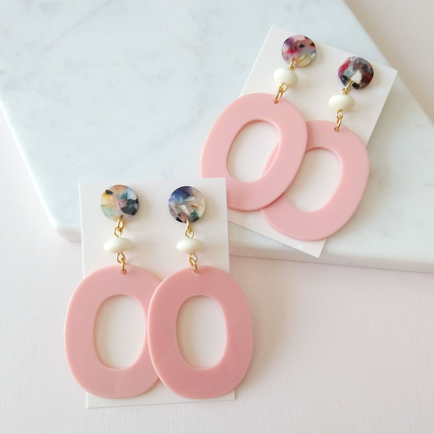 Piston Earrings in pink (SD1428)