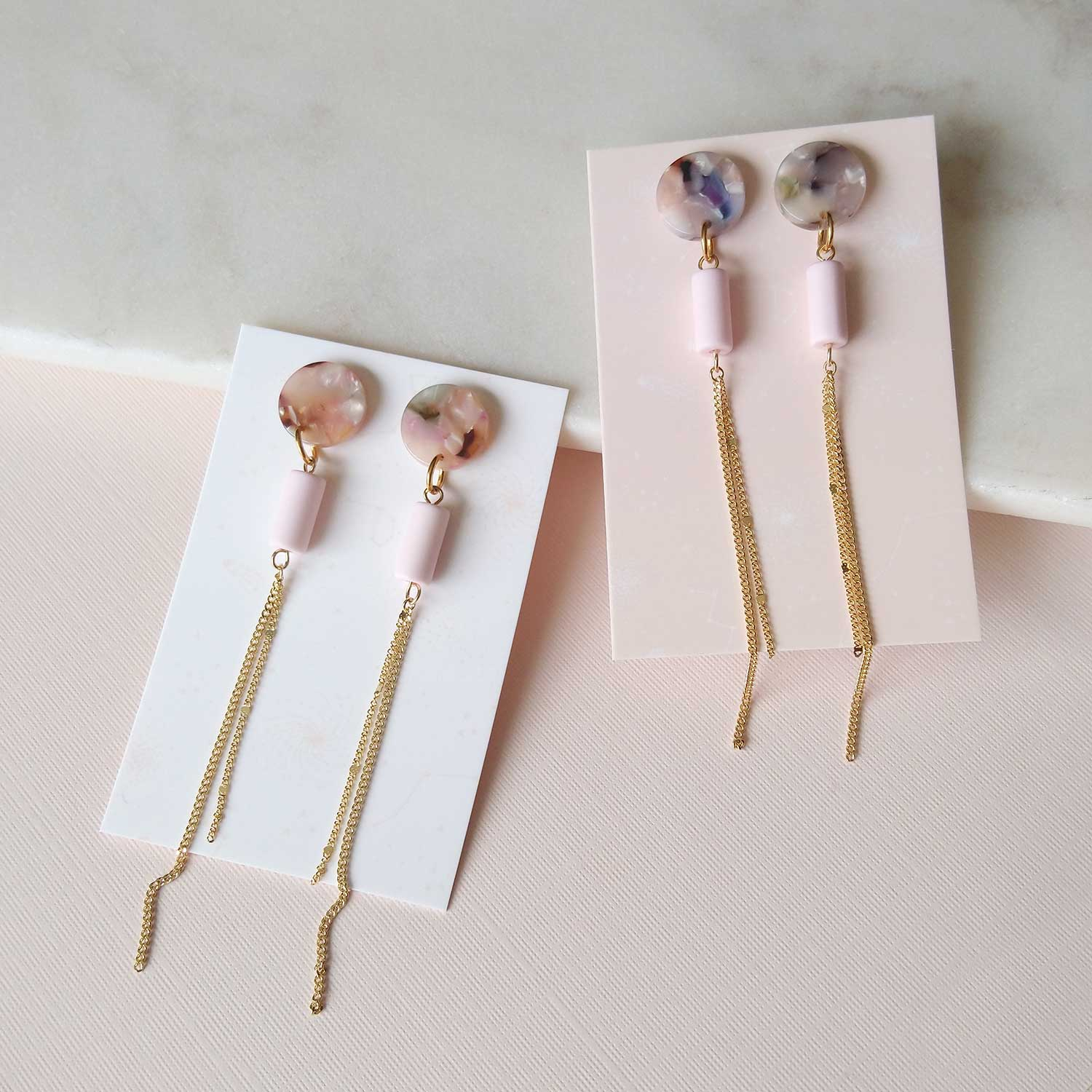 Sylvana Earrings in pink (SD1459)