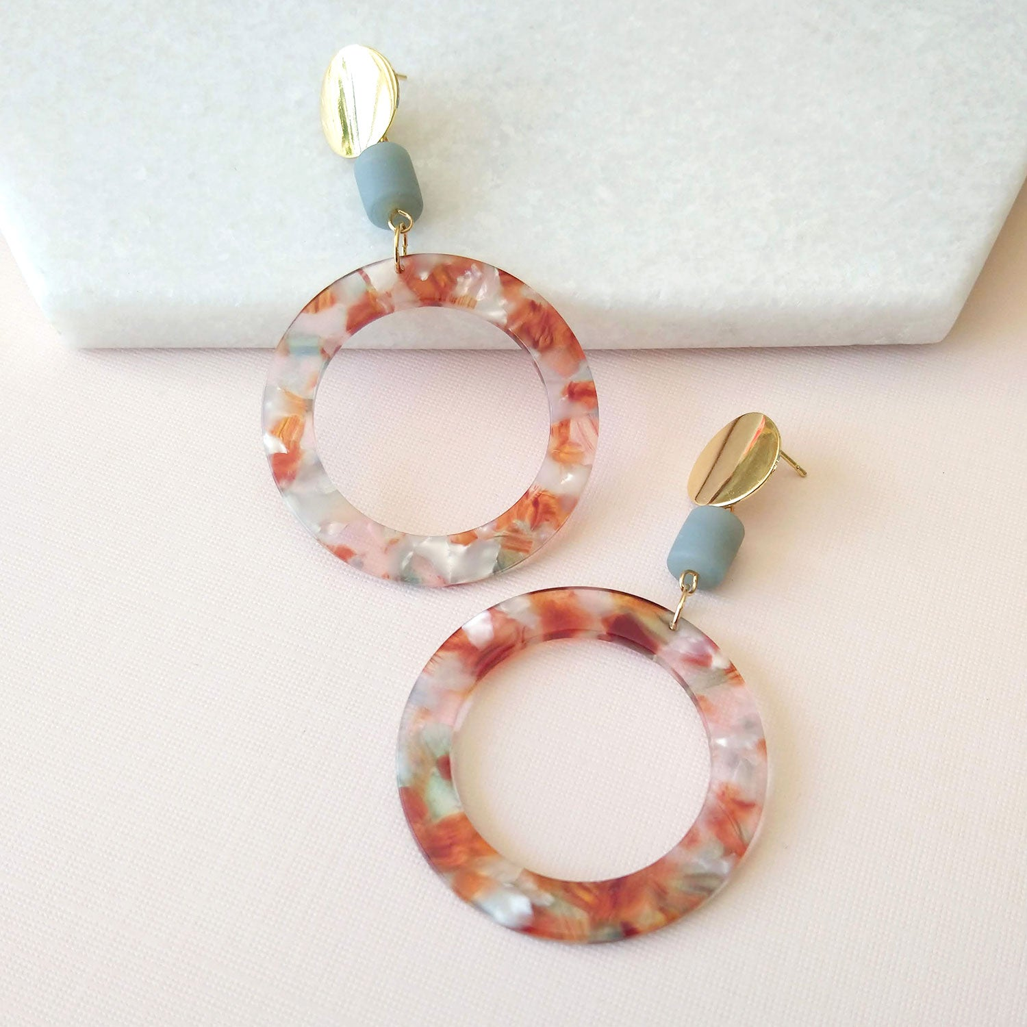 acetate hoops earrings