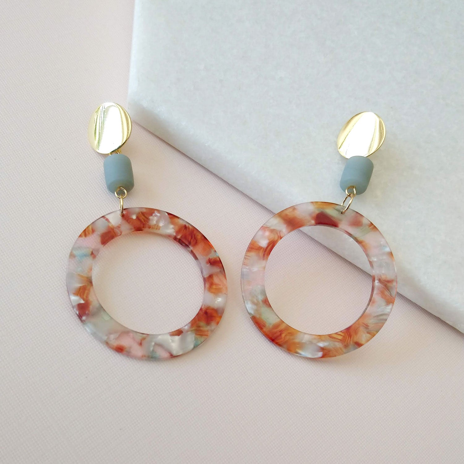 tortoiseshell earrings hoops