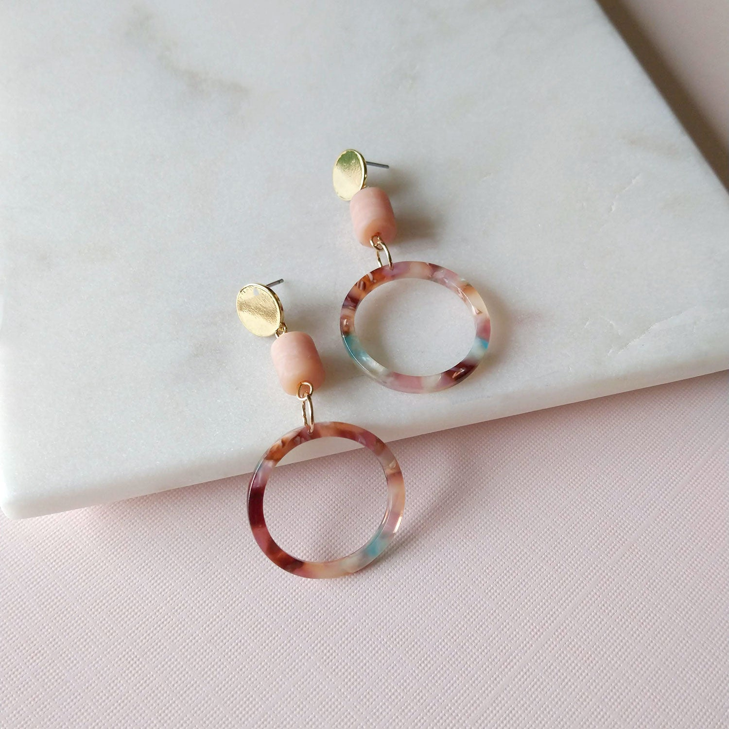 acrylic hoops earrings tortoiseshell