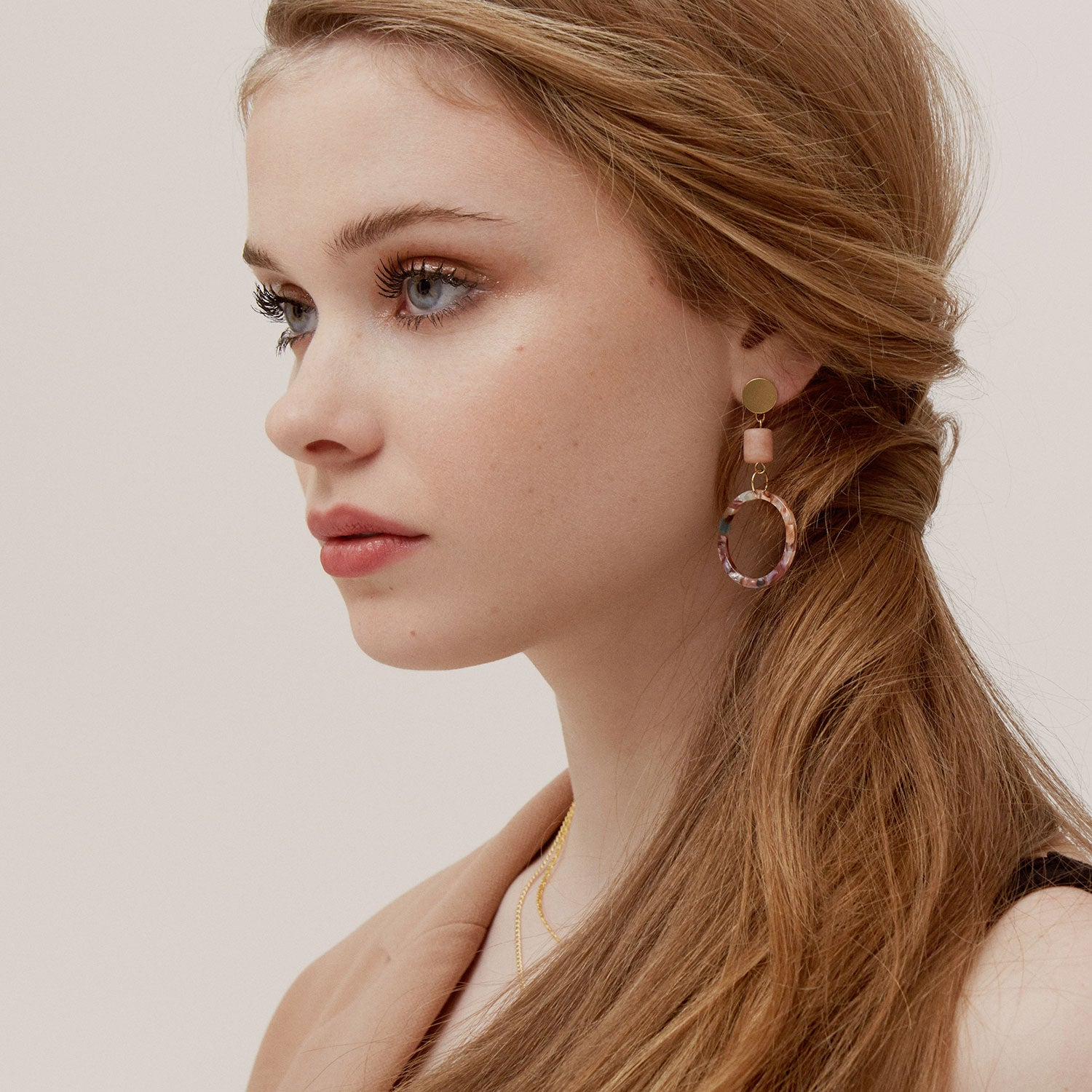 acetate earrings hoops