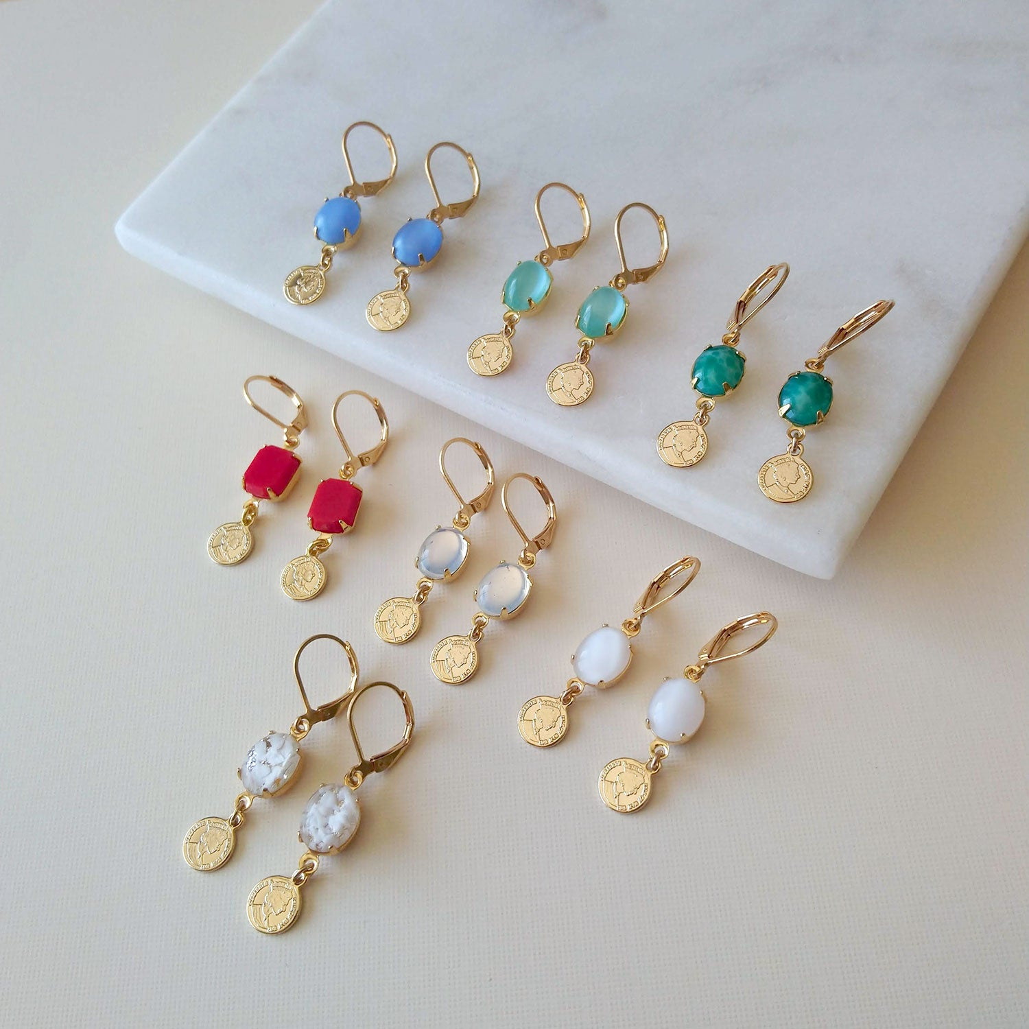 small earrings gold coins