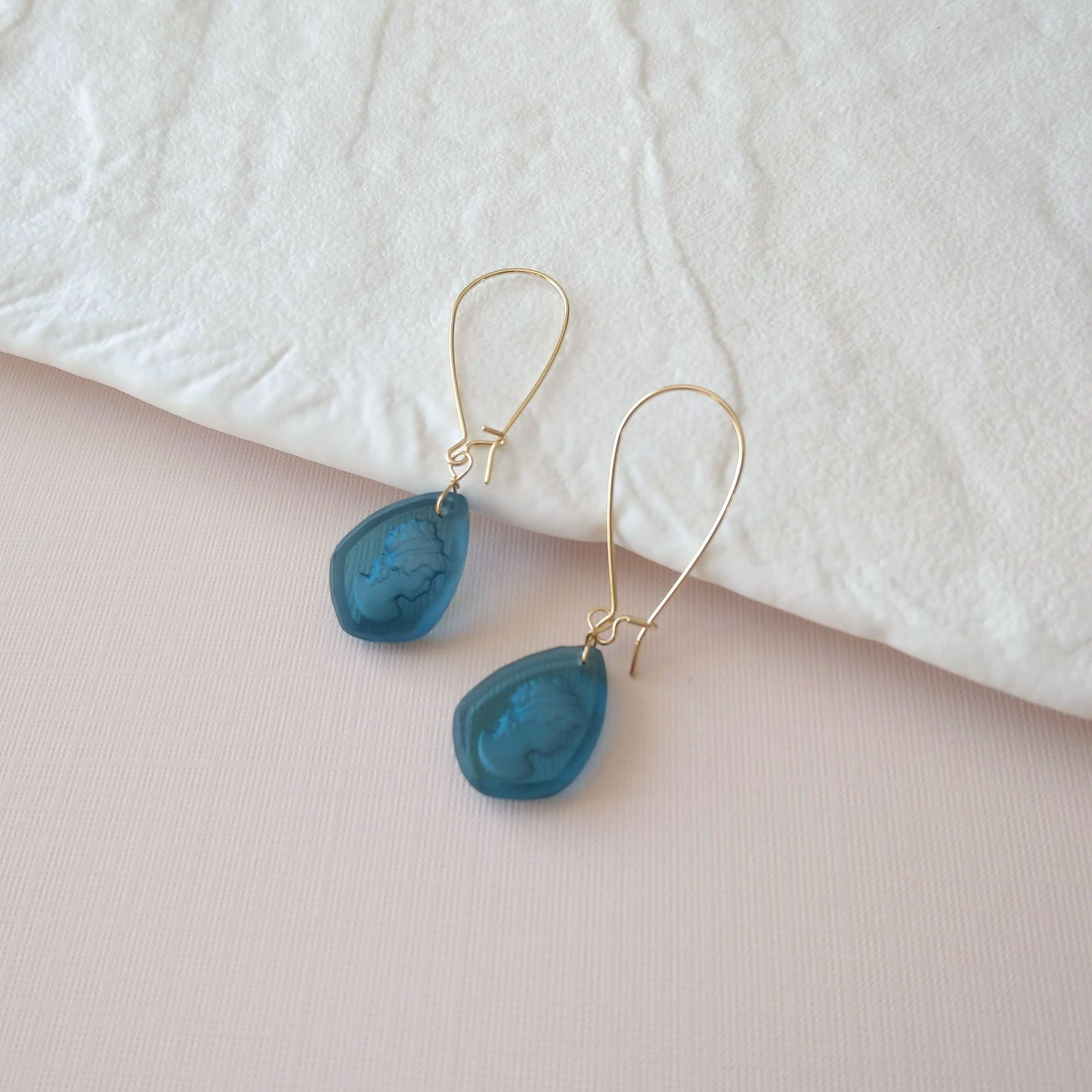 Soto II Earrings in teal (SD1569)