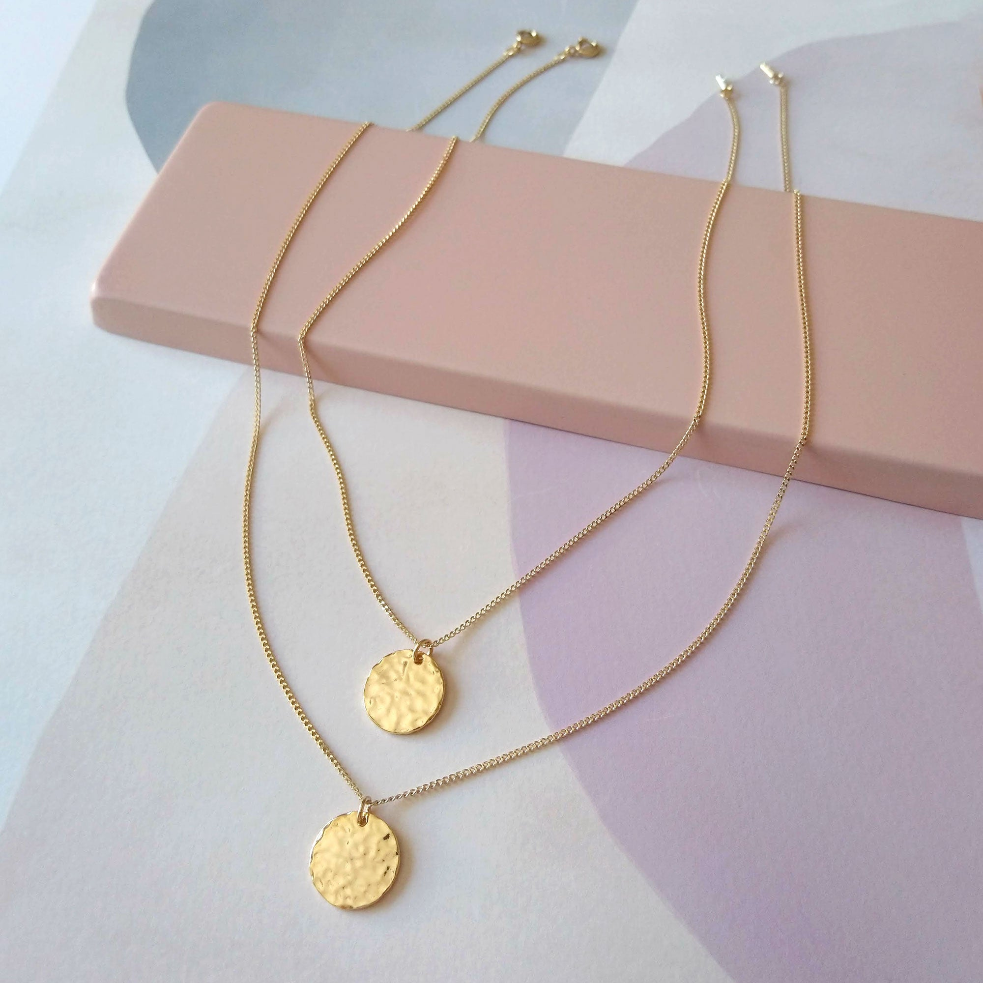 double layer lucky coin necklace