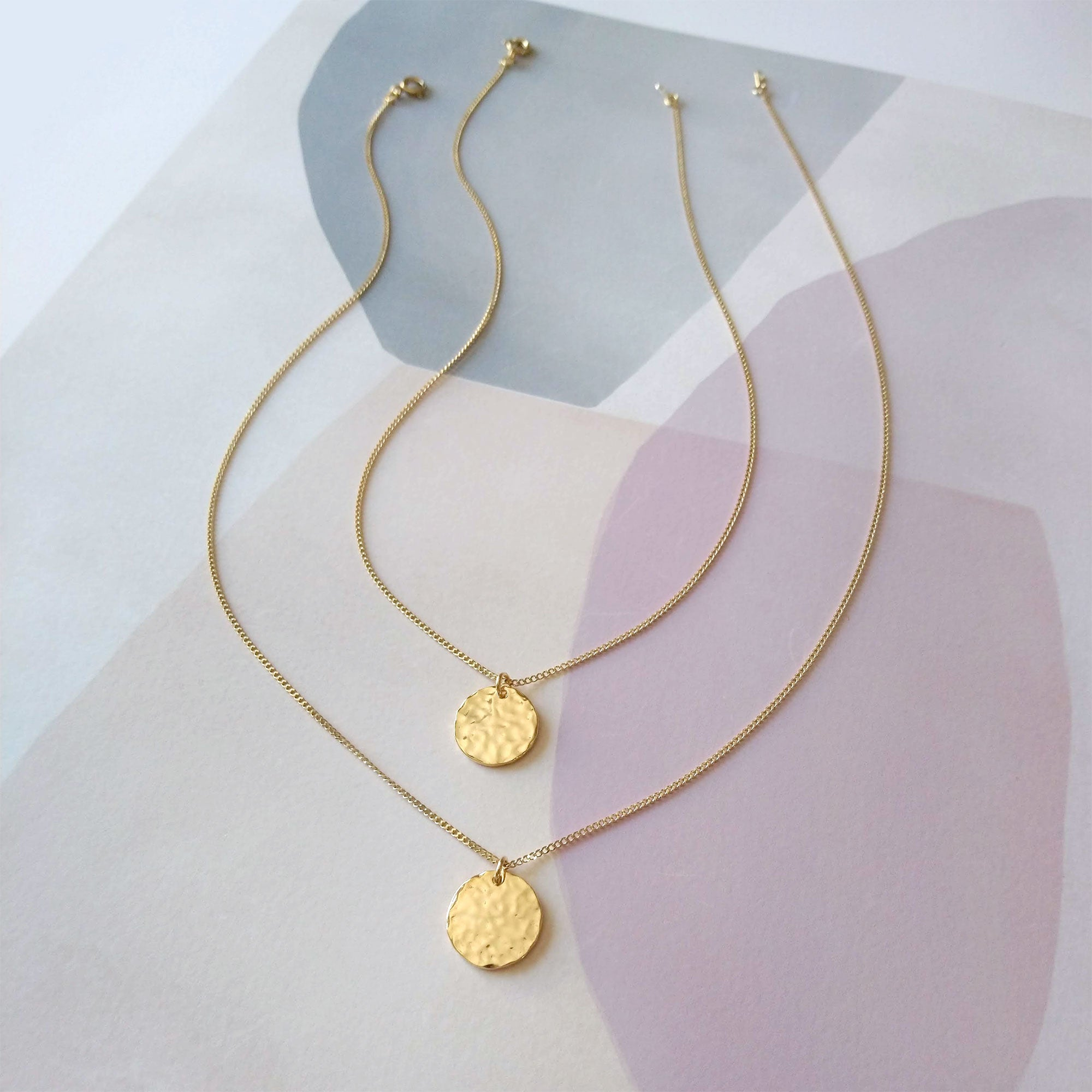 double coin gold plated necklace