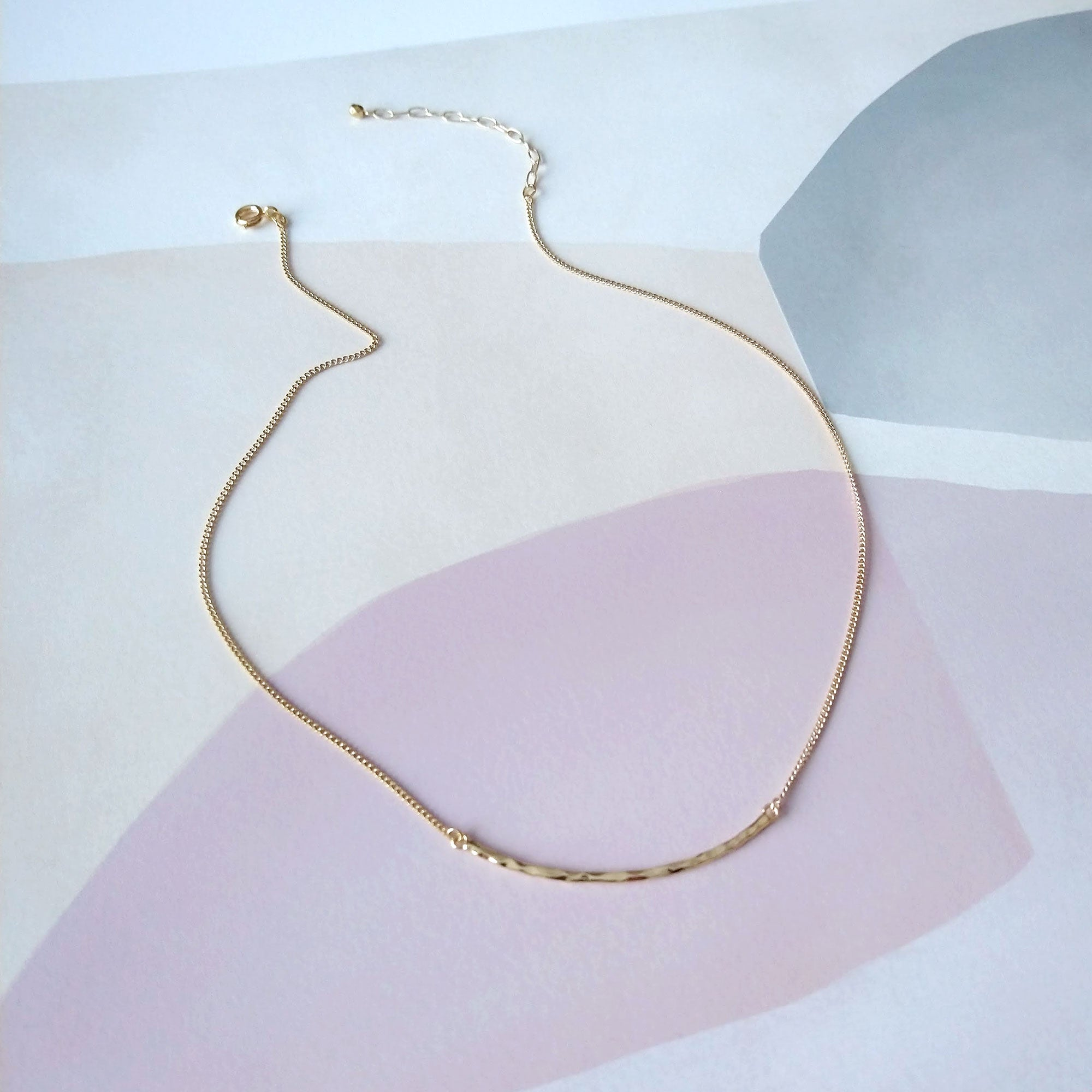 minimal choker layering necklace
