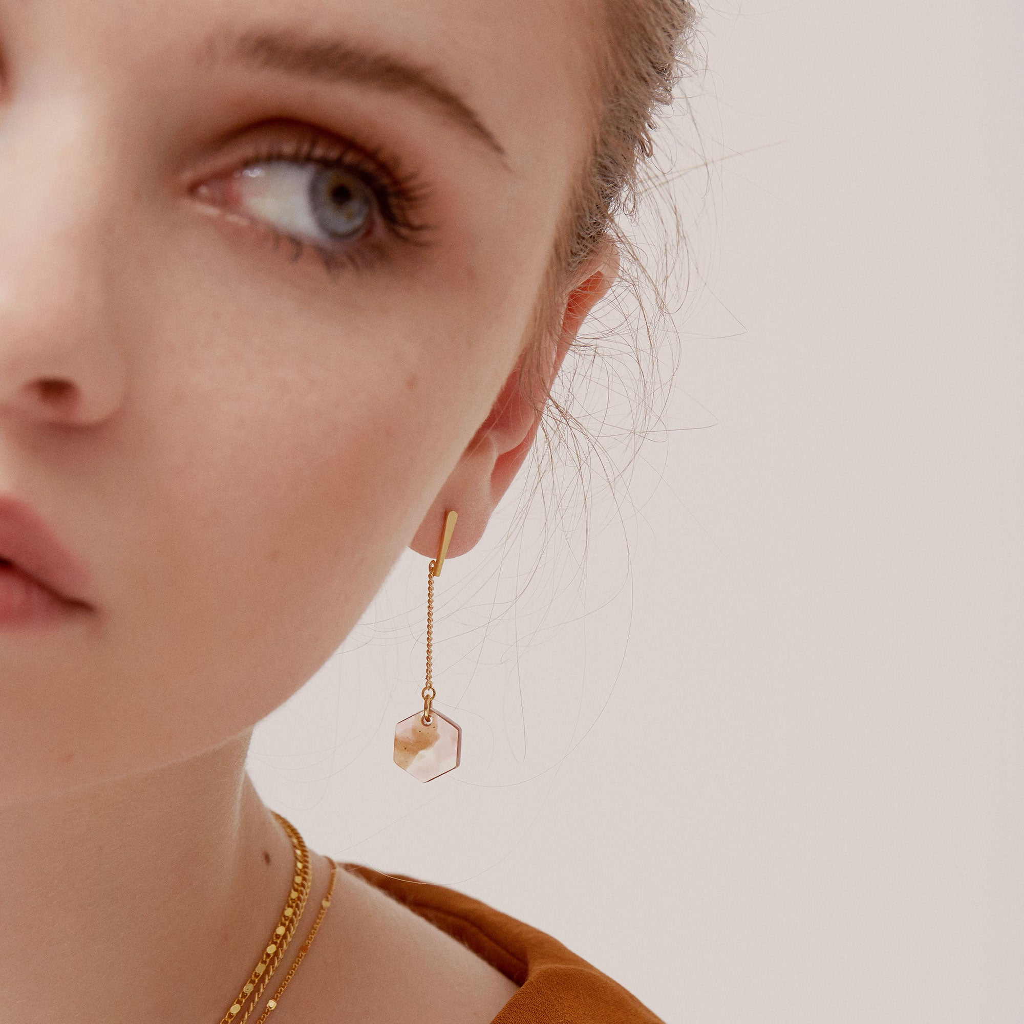 small acetate earrings sandrine devost
