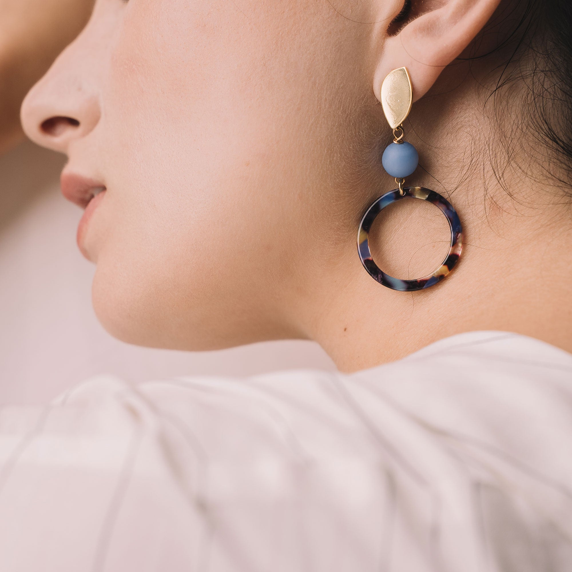 acetate hoop earrings tortoiseshell earrings sandrine devost