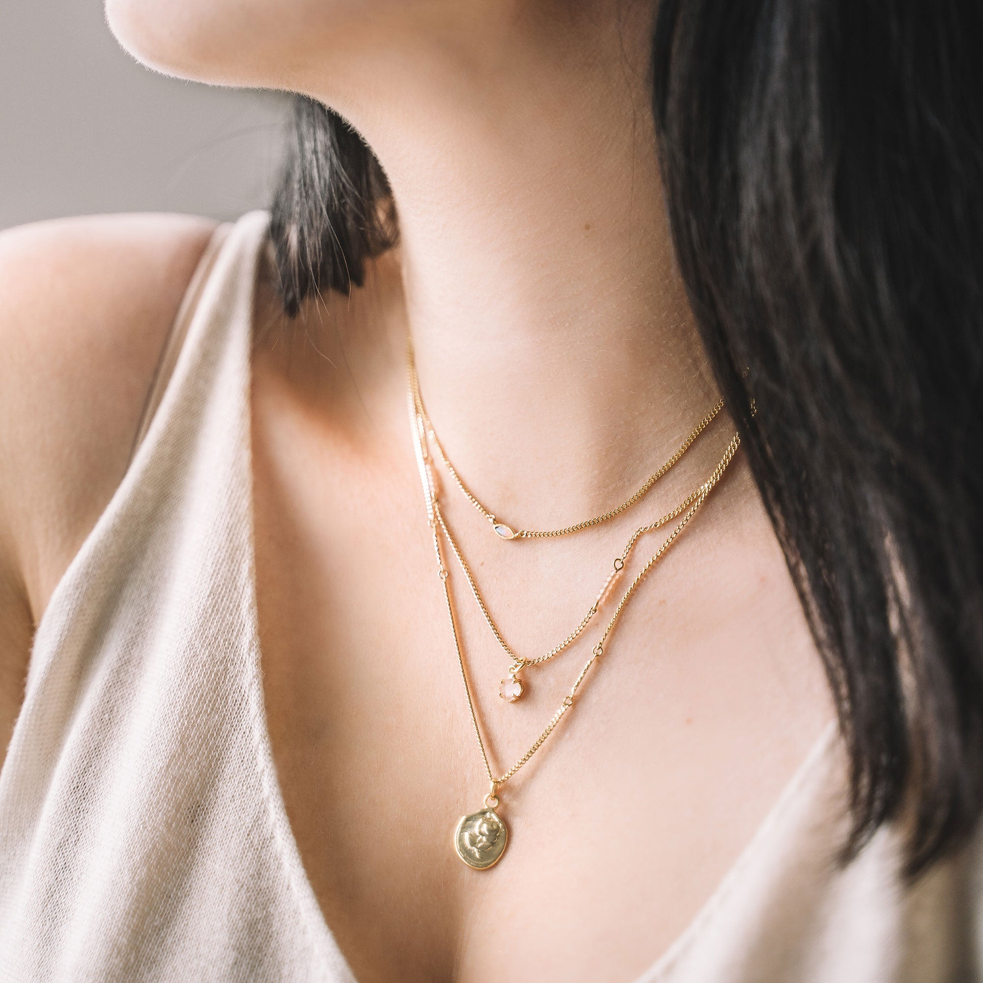 layering necklaces charm necklace gold